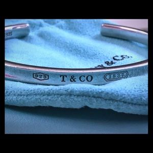 Genuine Tiffany & Co Narrow Cuff Bracelet